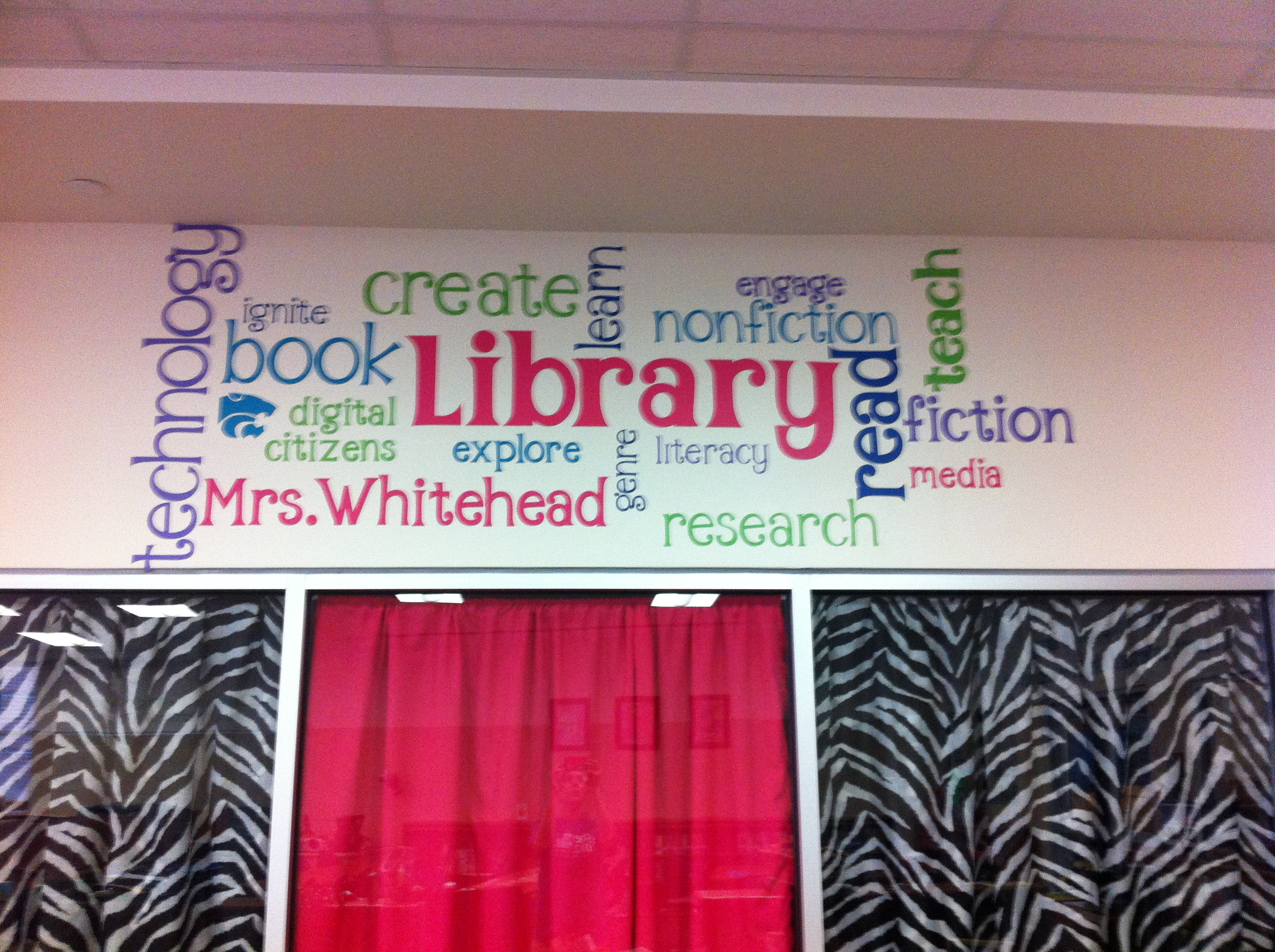 Word cloud yes please mighty little librarian for Decoration word